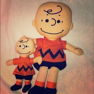 PEANUTS  1950 CHARLIE BROWN CLOTH DOLLS rare find